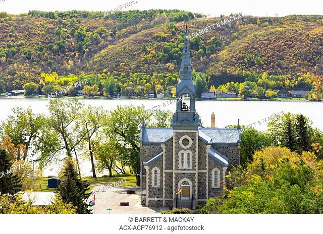 Sacred Heart Roman Catholic Church, Village of Lebret, Mission Lake, Qu'Appelle Valley, Saskatchewan, Canada