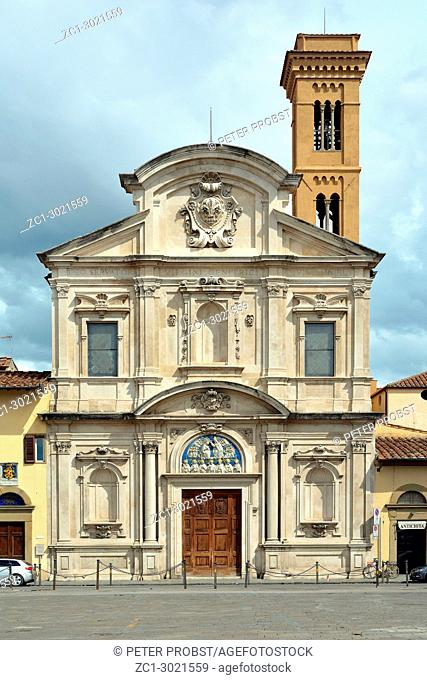 Franciscan church Chiesa di San Salvatore di Ognissanti at the Piazza di Ognissanti in Florence - Italy