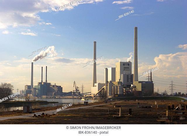 Large Power Station, Mannheim, Baden-Wuerttemberg, Germany, Europe