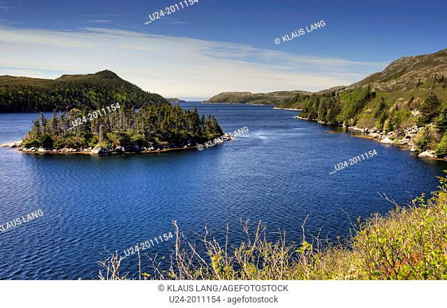Lake along the Granite Coast of Southern Newfoundland