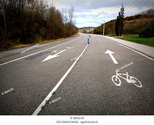 'Chechu Rubiera' cycling circuit, Pola de Siero, Asturias, Spain