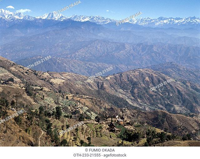 Pokhara mountain range, Nepal