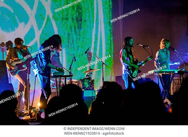 Tame Impala perform at the Beacon Theater Featuring: Tame Impala,Kevin Parker,Jay Watson,Cam Avery,Julien Barbagallo Where: New York City, New York