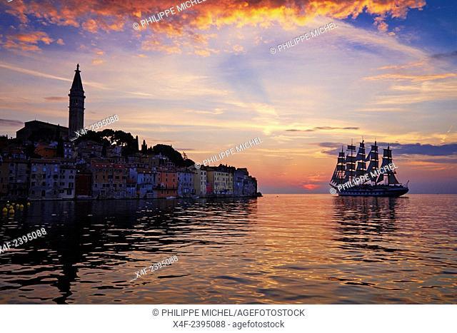 Croatia, Istria, old town of Rovinj