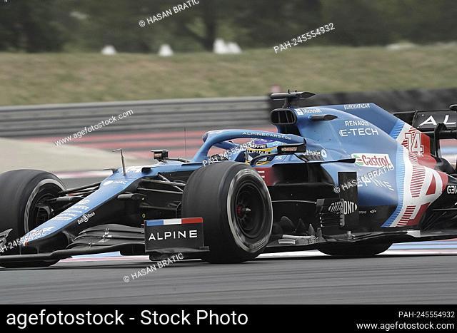 20.06.2021, Circuit Paul Ricard, Le Castellet, FORMULA 1 EMIRATES GRAND PRIX DE FRANCE 2021, in the picture Fernando Alonso (ESP # 14), Alpine F1 Team