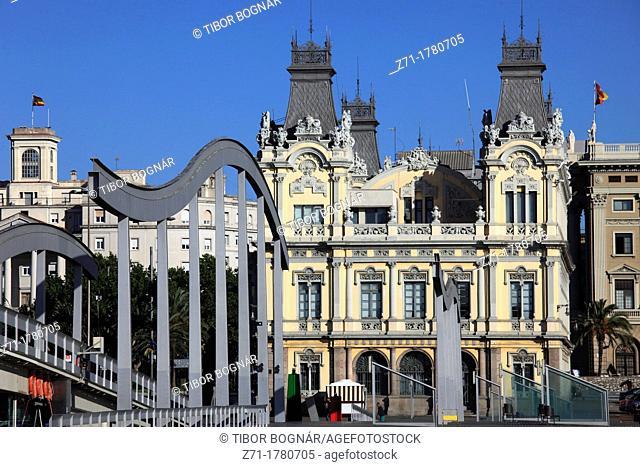Spain, Catalonia, Barcelona, Rambla del Mar, Port Authority