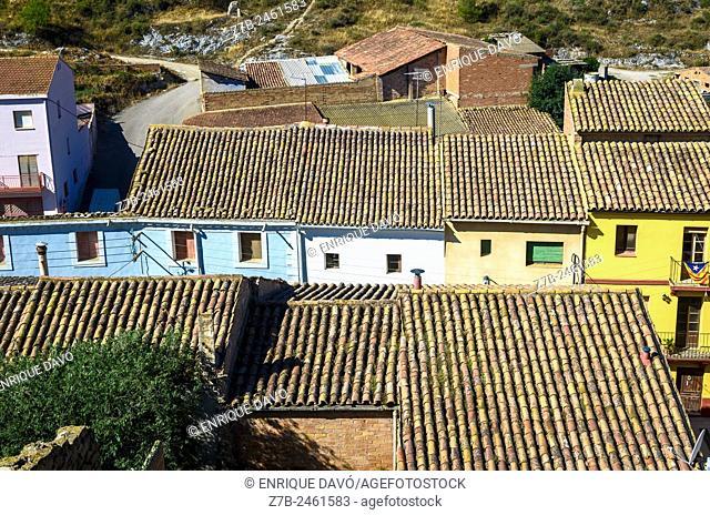 A rural pointview of Sentiu of Sio, Lerida province, Catalonia, Spain
