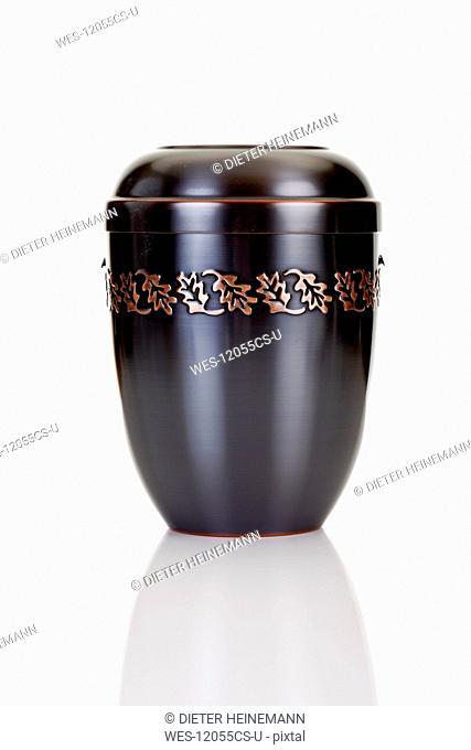 Black Cremation urn