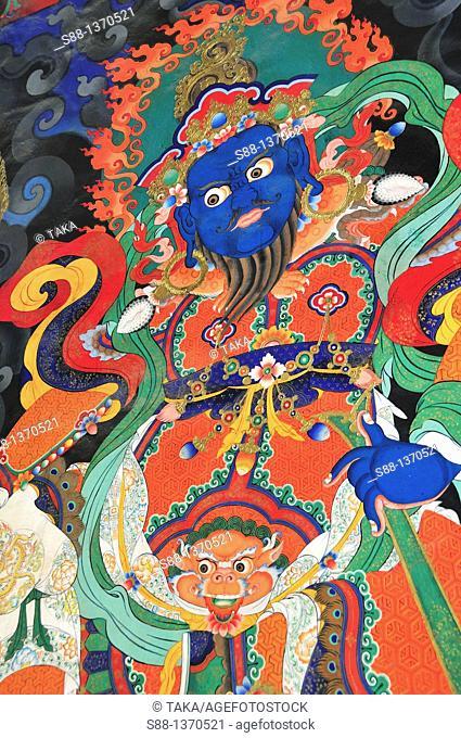 Wall painting in Lamayuru Temple