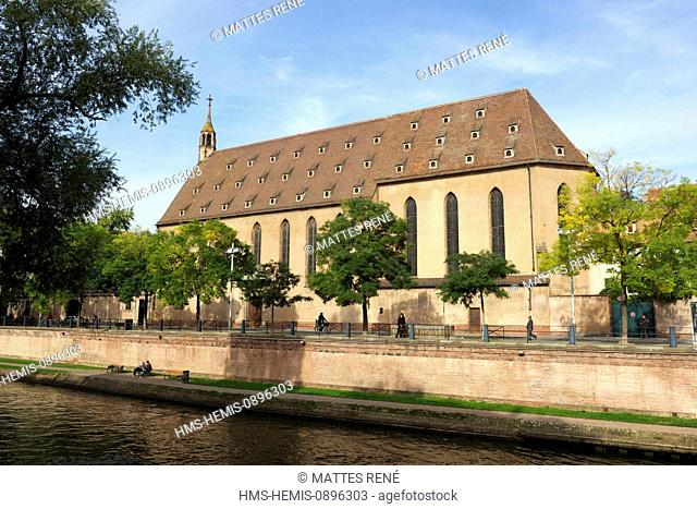 France, Bas Rhin, Strasbourg, old town listed as World Heritage by UNESCO, St Jean church