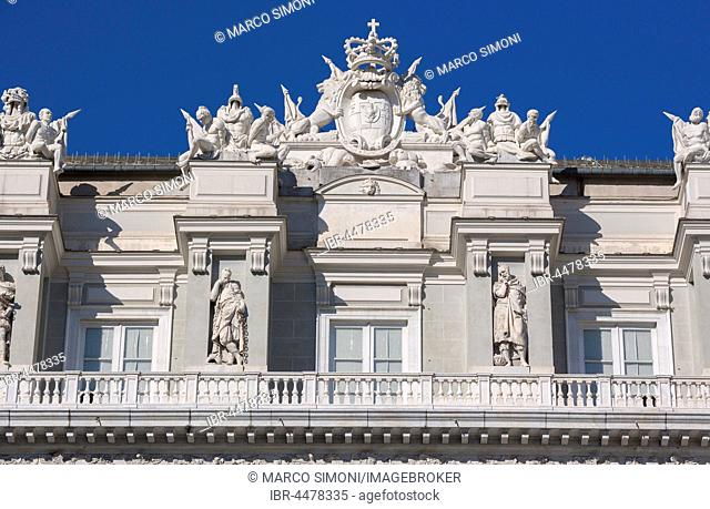 Facade, Palazzo Ducale, Genoa, Liguria, Italy