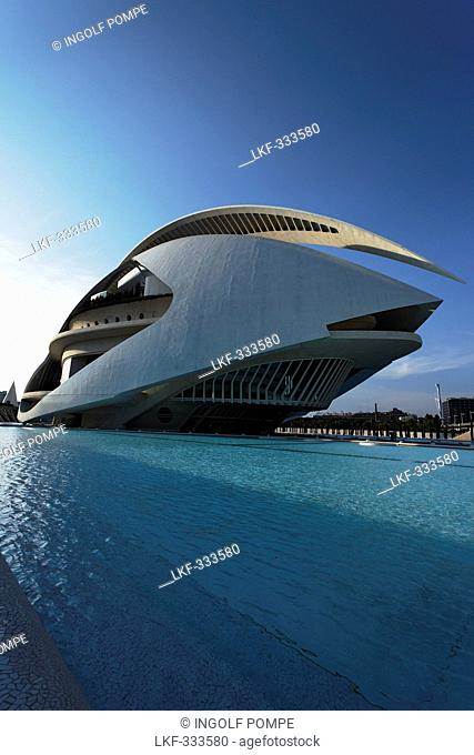 Palau de les Arts Reina Sofia opera, City of Arts and Science, Province Valencia, Valencia, Spain