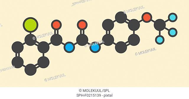 Triflumuron insecticide molecule