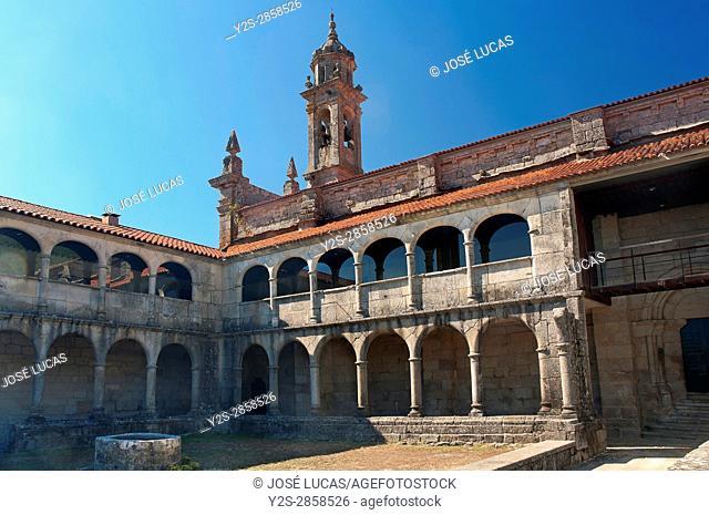 Monastery of Santa Maria de Xunqueira de Espadañedo (12th century), Orense province, Region of Galicia, Spain, Europe