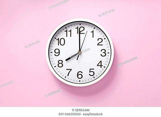wall clock at abstract background surface