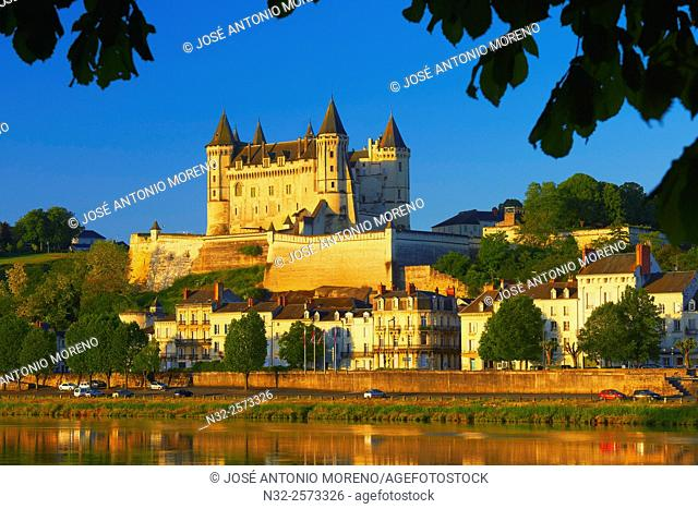 Saumur, Castle, Chateau de Saumur, Saumur Castle, Maine et Loire, Loire Valley, Loire River, Val de Loire, UNESCO World Heritage Site, France