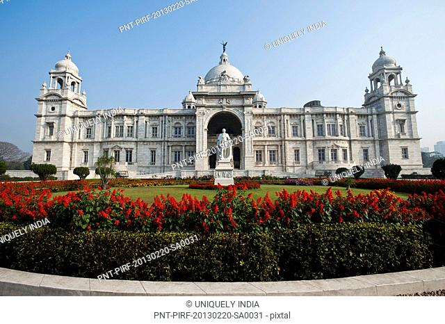 Facade of a memorial, Victoria Memorial, Kolkata, West Bengal, India