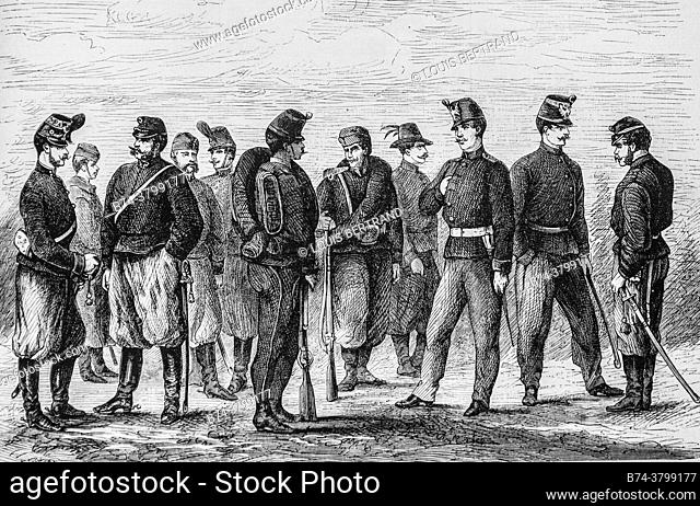 the new uniforms of the austrian army, the illustrious universe, editor michel levy 1868