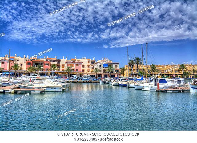 HDR of the Harbour front at Cabo de Palos, Murcia, Costa Calida, Spain, Europe