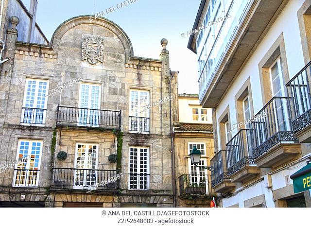 Santiago de Compostela buildings Galicia Spain