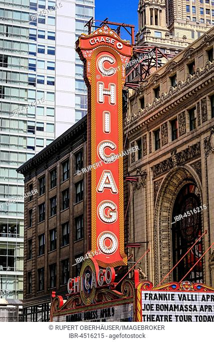 Chicago Theater, Chicago, Illinois, United States