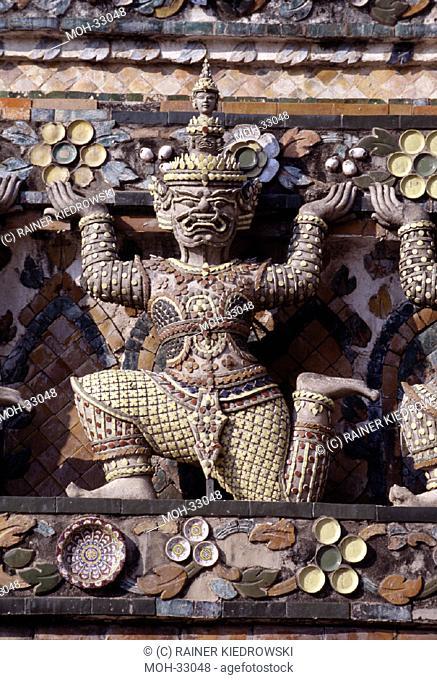 Bangkok, Tempel Wat Arun/ Detail