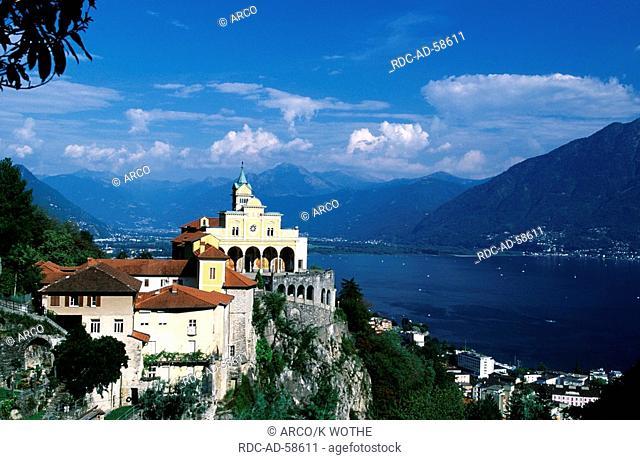 Pilgrimage church  'Madonna del Sasso' Locarno Lago Maggiore Ticino Switzerland