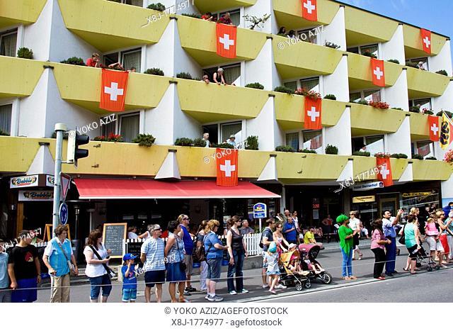 Switzerland, Canton Bern, Interlaken, festival in the 1st of August