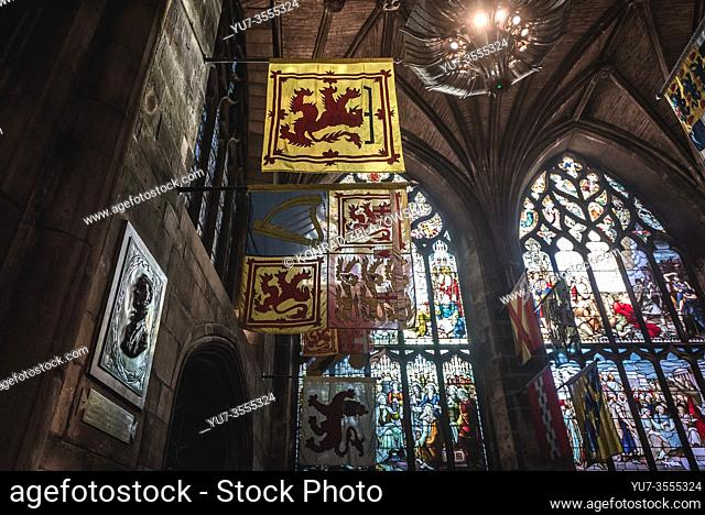 Preston Aisle in St Giles Cathedral also called High Kirk of Edinburgh in Edinburgh, the capital of Scotland, part of United Kingdom
