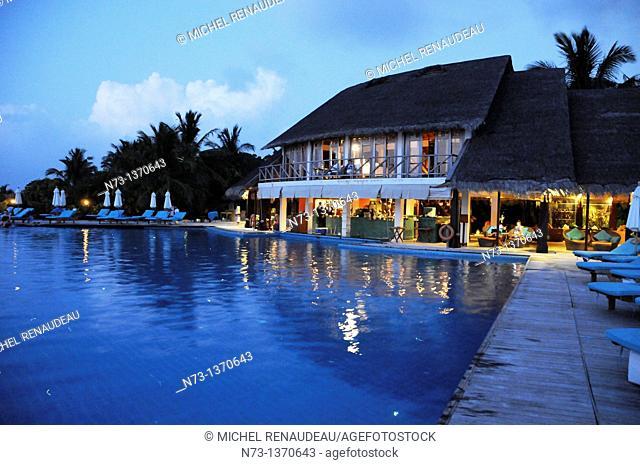 Indian Ocean, Maldives, South Male Atoll, Dhigufinolhu, Anantara Resort Dhigu