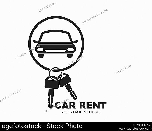 icon and logo of car rent vector illusration design