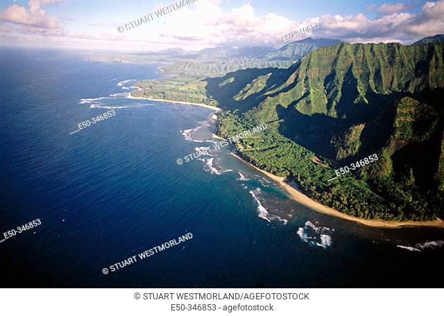 Papillon helicopter sightsee. NaPali coast, Kauai. Hawaii. USA