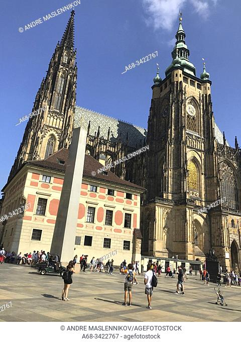 St. Vitus Cathedral is situated entirely within the Prague Castle complex. The Metropolitan Cathedral of Saints Vitus, Wenceslaus and Adalbert (Czech:...