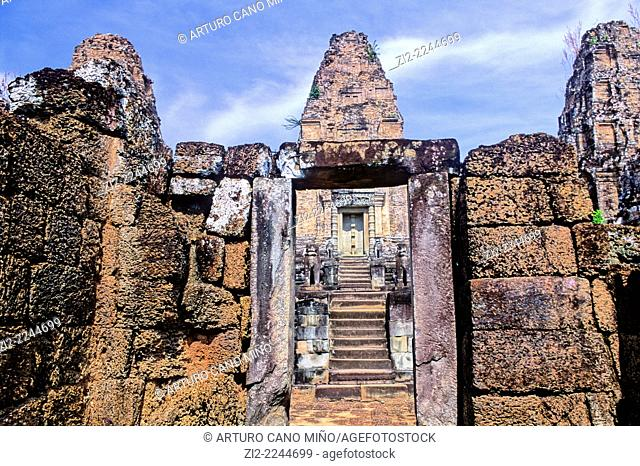 East Mebon, Hindu temple, Xth century. Angkor, Siem Reap Province, Cambodia