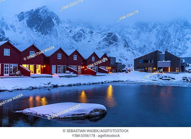 Ballstad, Leknes, Lofoten, Norway, Europe