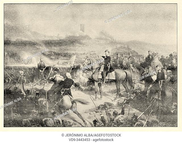 The war of Italy. The battle of Solferino took place on June 24, 1859, in the town of Solferino in Italy. The Austrian army