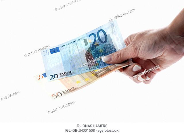 Money - Euro coins and banknotes