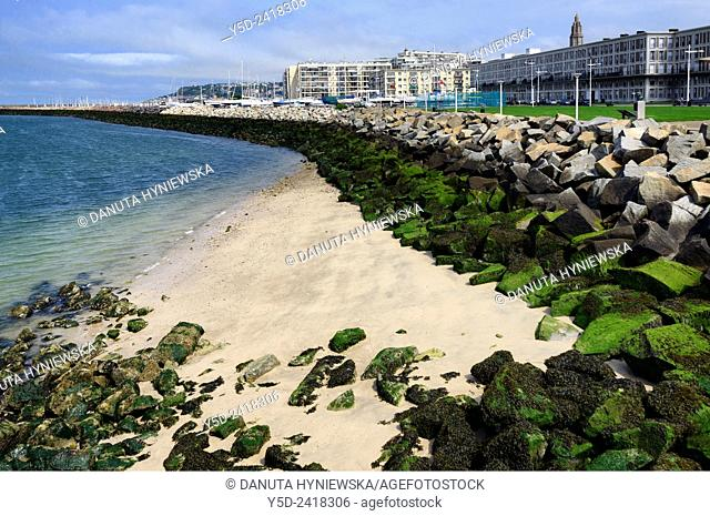 Urban coastal landscape, Le Havre, Seine-Maritime department, Upper Normandy, France