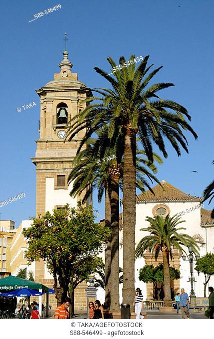 Plaza Alta and Nuestra Señora de la Palma church. Algeciras. Cádiz province. Spain
