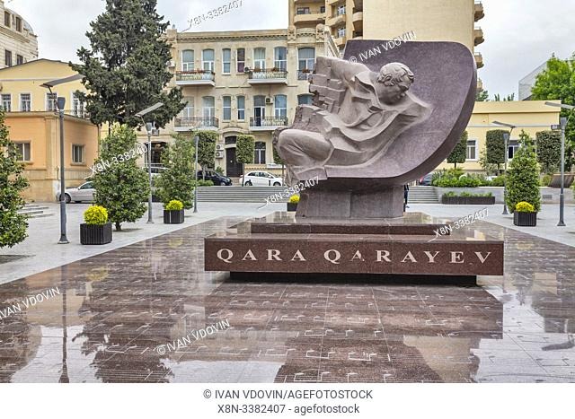 Monument to Gara Garayev (1918-1982), Soviet Azerbaijani composer, Baku, Azerbaijan