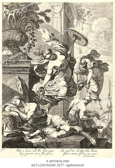 Allegory of Fortuna and Science, Dancker Danckerts, 1650 - 1666