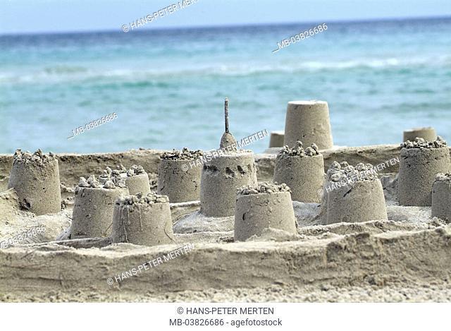 Sand castle, sea, beach
