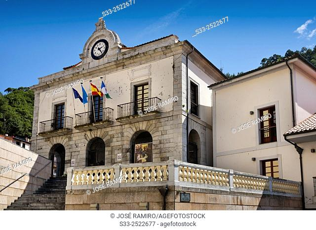 Town Hall in Cudillero. Asturias. Spain