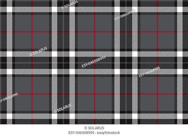 Gray tartan fabric textire seamless pattern. Vector illustration