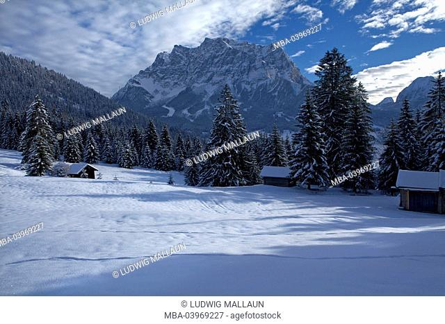 Austria, Tyrol, Ehrwald, Zugspitze