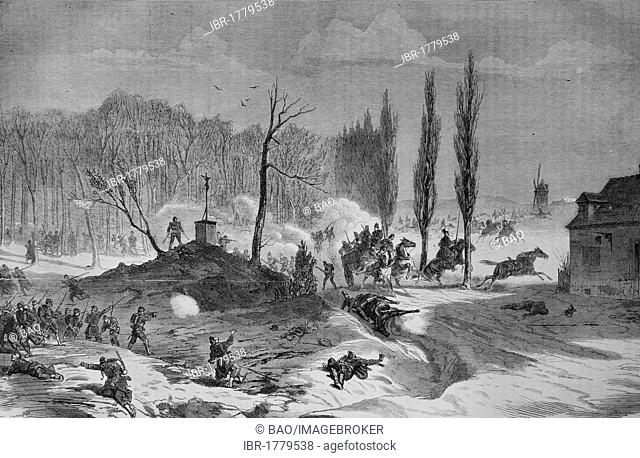 Battle of Le Quesnel on 23 November 1870, Illustrierte Kriegschronik 1870 - 1871, Illustrated War Chronicle 1870 - 1871, German-French Campaign