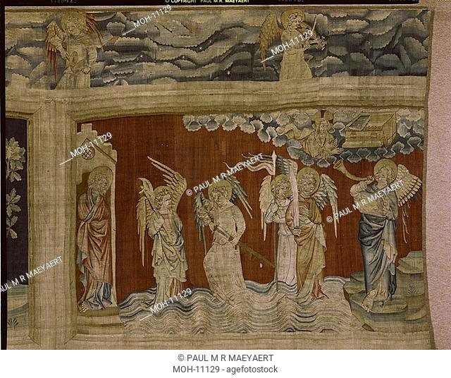 La Tenture de l'Apocalypse d'Angers, Sixième trompette : les anges de l'Euphrate 1,59 x 2,46m, die sechste Posaune: die Engel des Euphrat