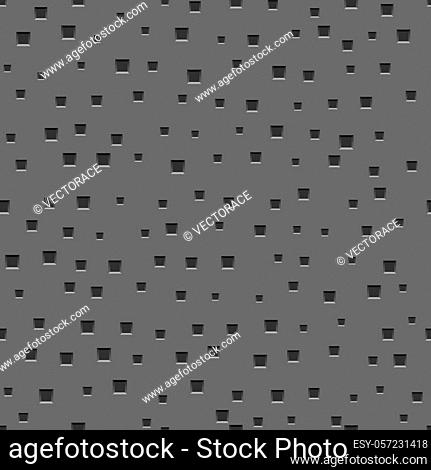 Seamless Metal Texture with Square Pattern