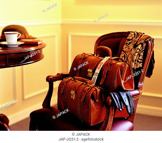 Luggage on chair
