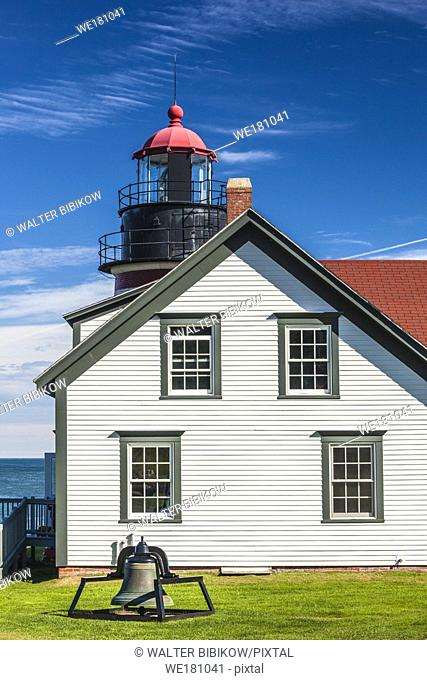 USA, Maine, Lubec, West Quoddy Head Llight lighthouse